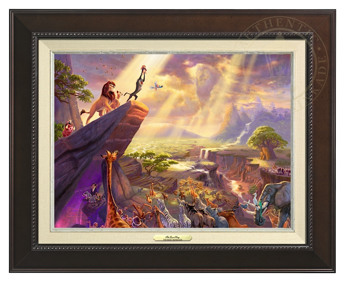 Lion King, The - Canvas Classic (Espresso Frame)