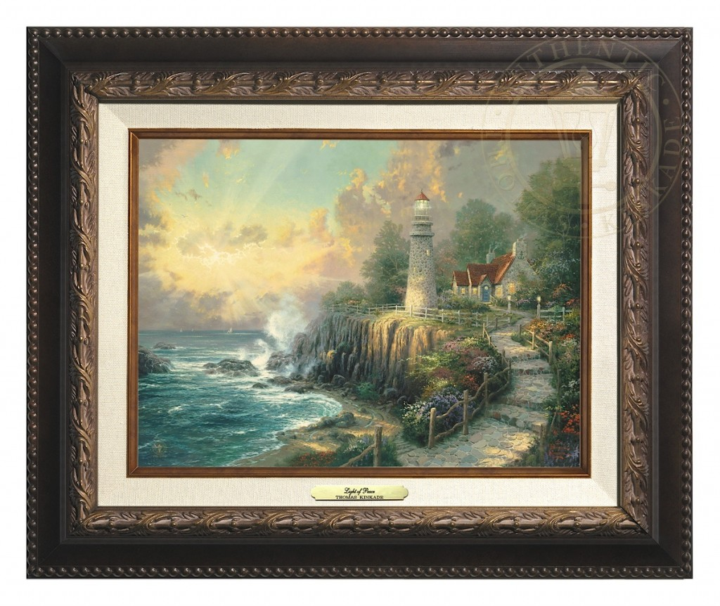 Light of Peace, The - Canvas Classic (Aged Bronze Frame)