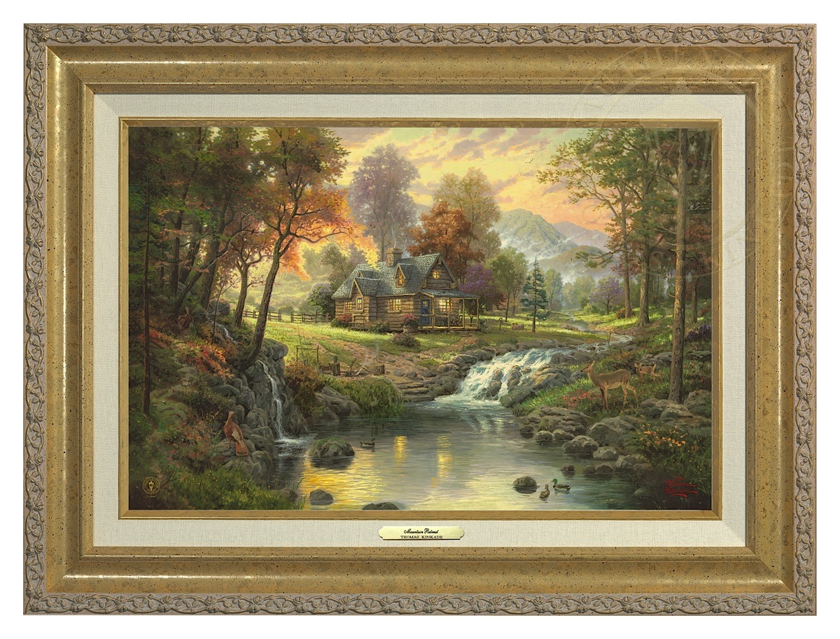 Mountain Retreat - Canvas Classic (Gold Frame)