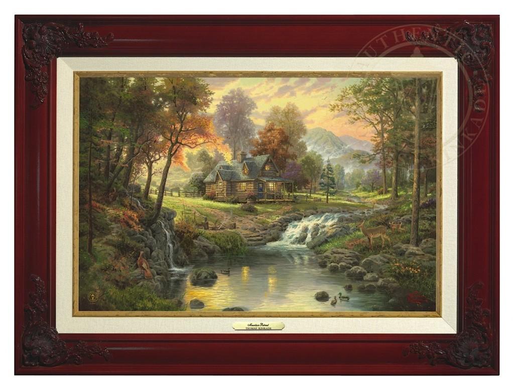 Mountain Retreat - Canvas Classic (Brandy Frame)