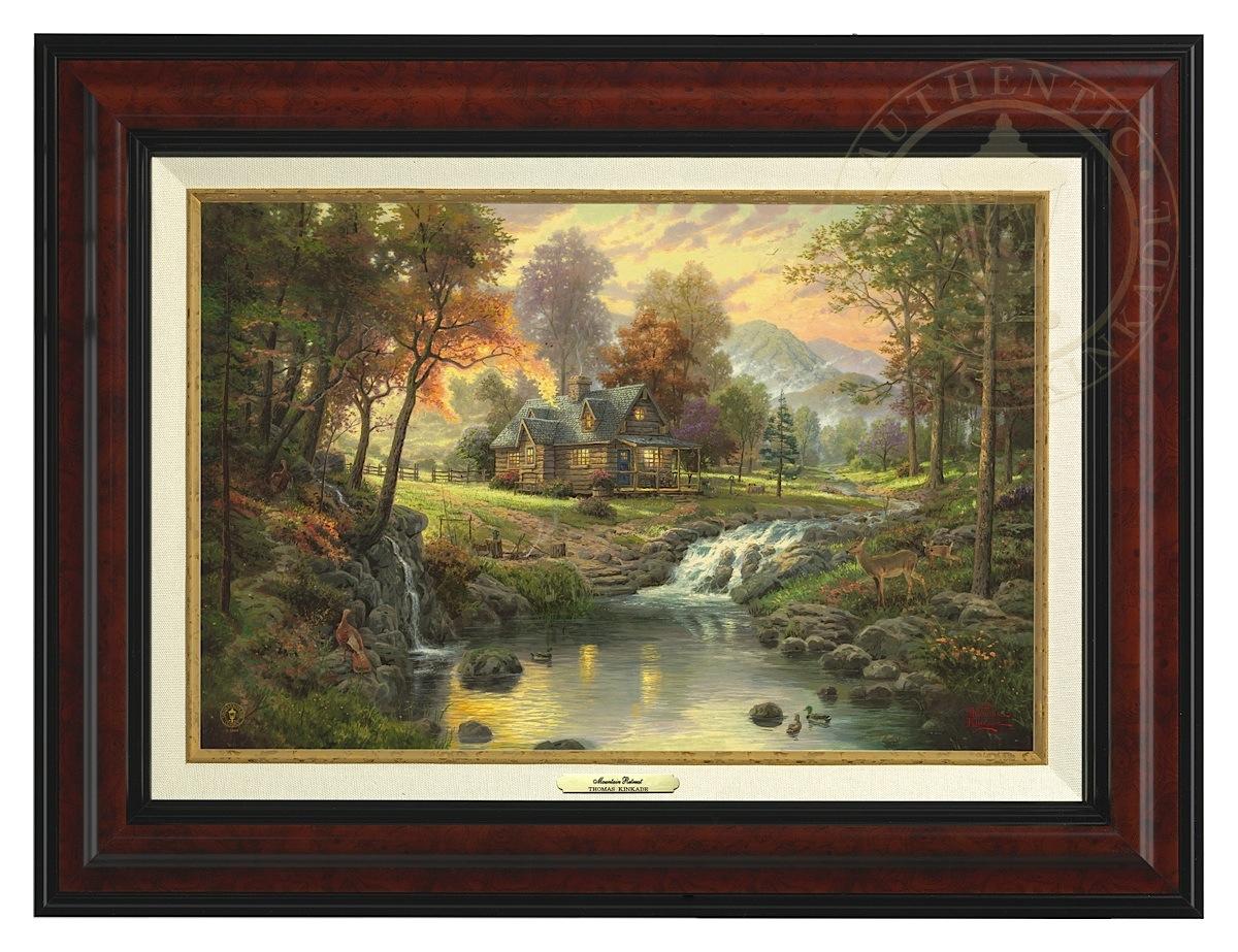 Mountain Retreat - Canvas Classic (Burl Frame)