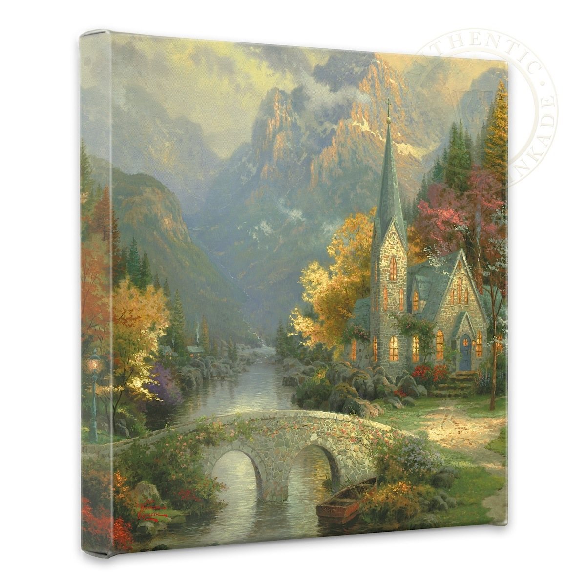 "Mountain Chapel, The - 14"" x 14"" Gallery Wrapped Canvas"