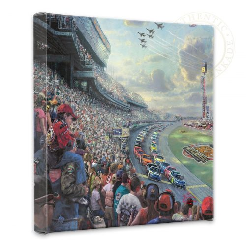 """NASCAR Thunder - 14"""" x 14"""" Gallery Wrapped Canvas"""