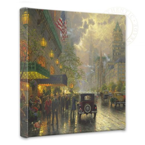 "New York, Fifth Avenue - 14"" x 14"" Gallery Wrapped Canvas"