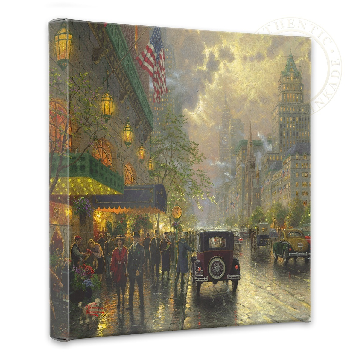 """New York, Fifth Avenue - 14"""" x 14"""" Gallery Wrapped Canvas"""