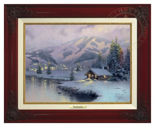 Olympic Mountain Evening - Canvas Classic (Brandy Frame)