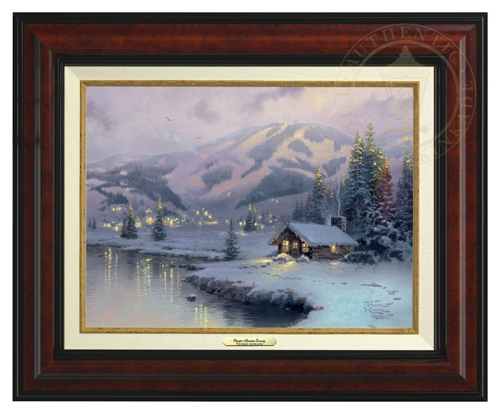 Olympic Mountain Evening - Canvas Classic (Burl Frame)