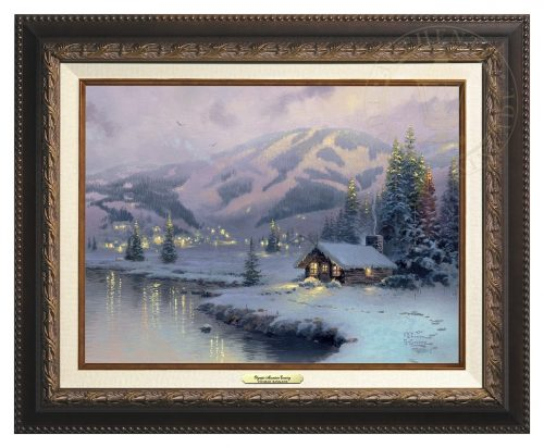 Olympic Mountain Evening - Canvas Classic (Aged Bronze Frame)