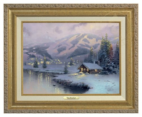 Olympic Mountain Evening - Canvas Classic (Gold Frame)