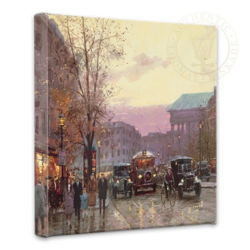 "Paris Twilight - 14"" x 14"" Gallery Wrapped Canvas"