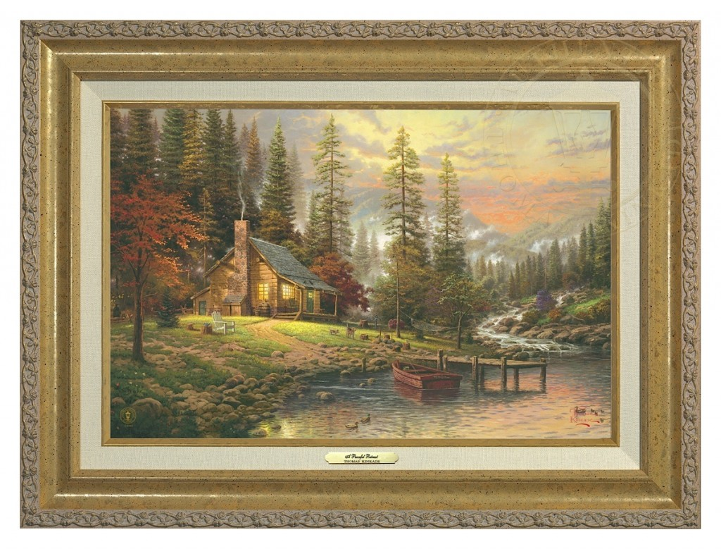 Peaceful Retreat, A - Canvas Classic (Gold Frame)