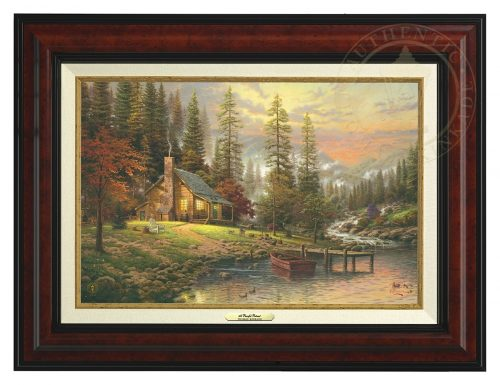 Peaceful Retreat, A - Canvas Classic (Burl Frame)