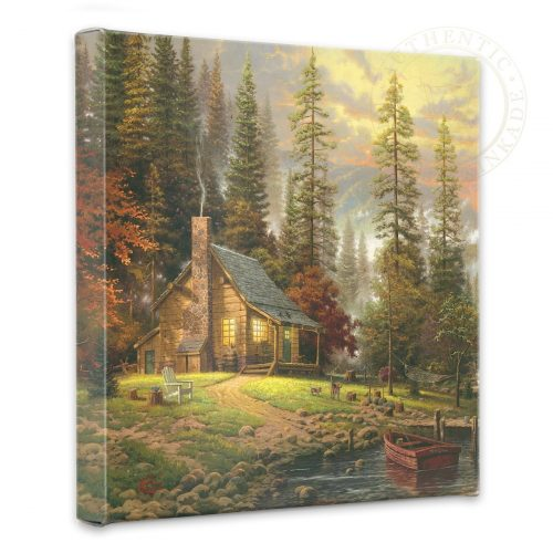"Peaceful Retreat, A - 14"" x 14"" Gallery Wrapped Canvas"