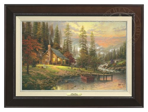 Peaceful Retreat, A - Canvas Classic (Espresso Frame)