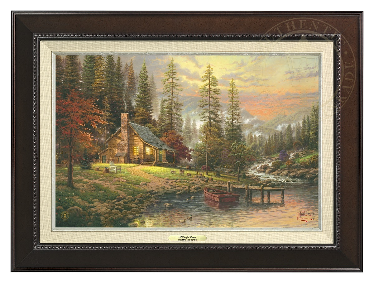 Peaceful Retreat, A - Canvas Classic (Espresso Frame)