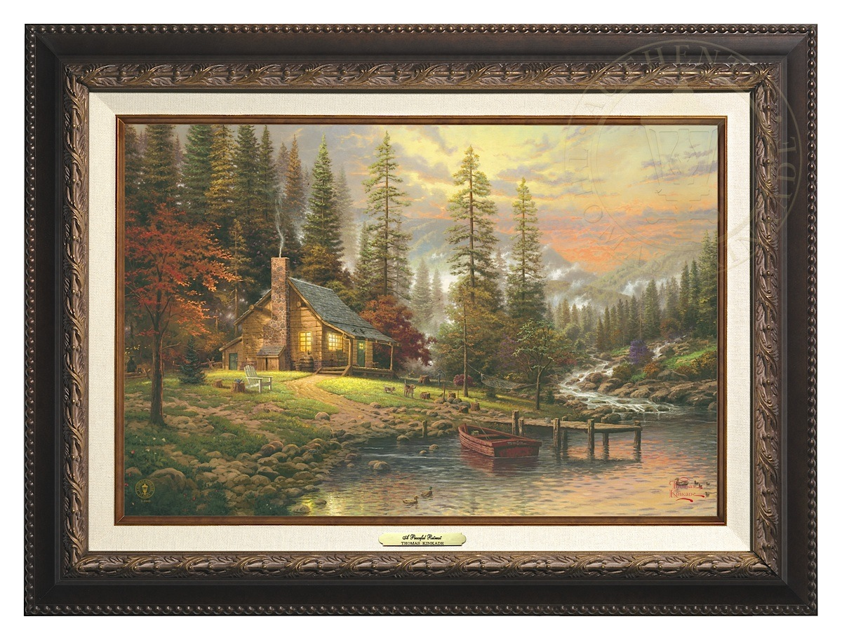 Peaceful Retreat, A - Canvas Classic (Aged Bronze Frame)