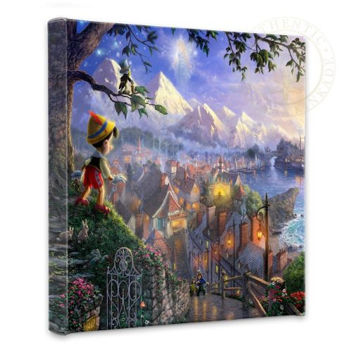 """Pinocchio Wishes Upon A Star - 14"""" x 14"""" Gallery Wrapped Canvas"""