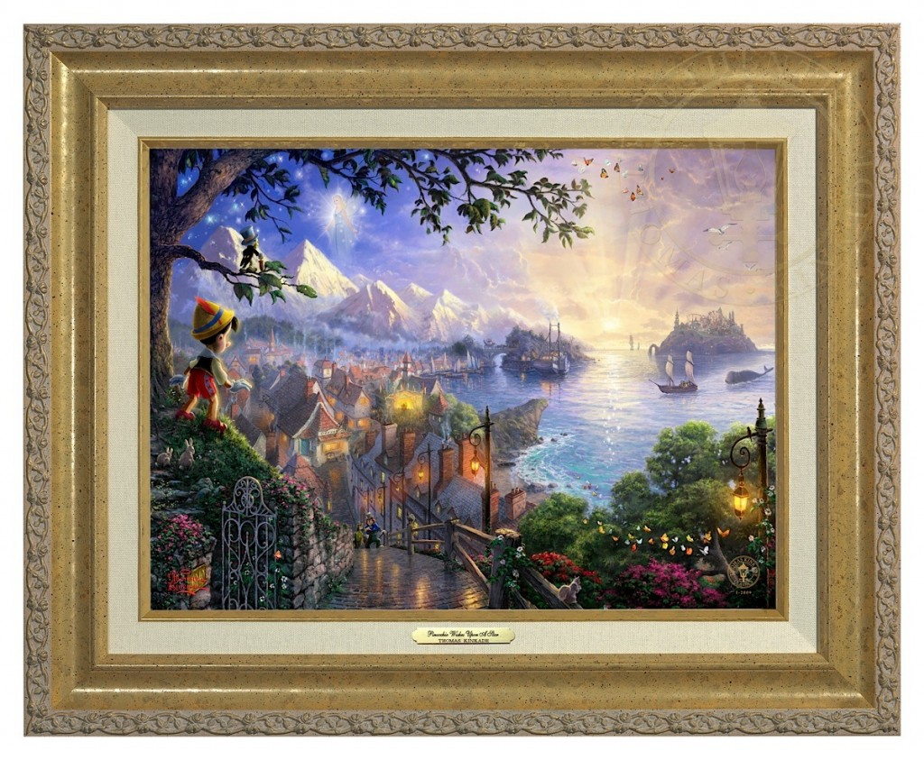 Pinocchio Wishes Upon A Star - Canvas Classic (Gold Frame)