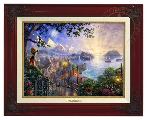 Pinocchio Wishes Upon A Star - Canvas Classic (Brandy Frame)