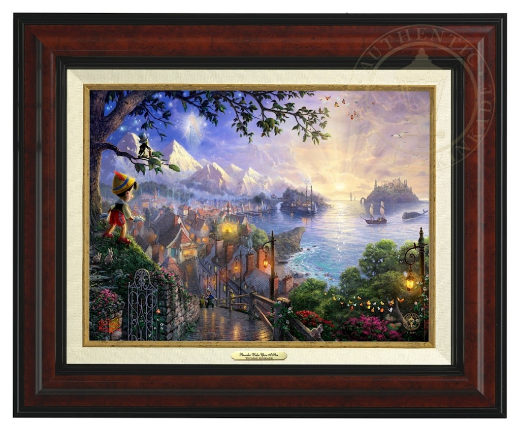 Pinocchio Wishes Upon A Star - Canvas Classic (Burl Frame)