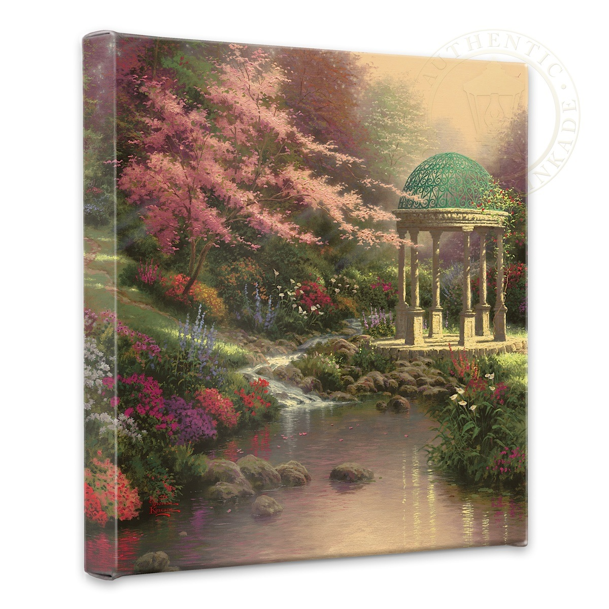"Pools of Serenity - 14"" x 14"" Gallery Wrapped Canvas"