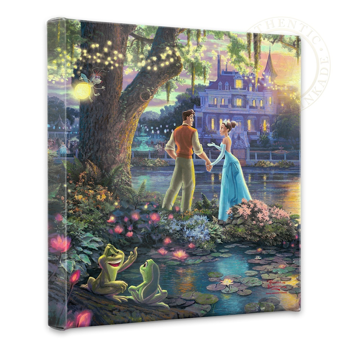 "Princess and the Frog, The - 14"" x 14"" Gallery Wrapped Canvas"