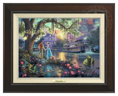 Princess and the Frog, The - Canvas Classic (Espresso Frame)