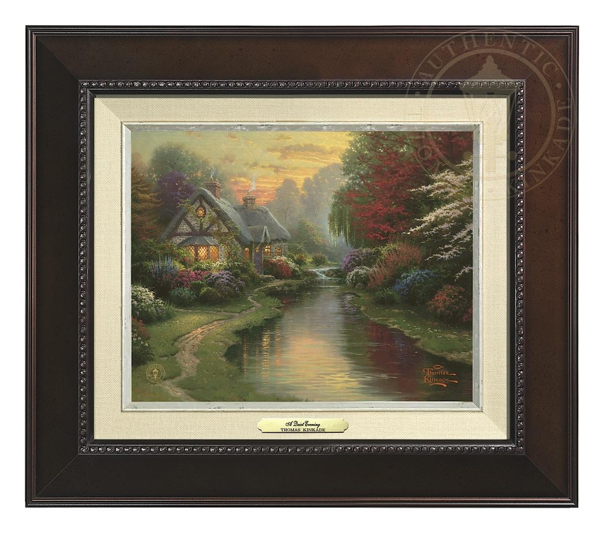 Quiet Evening, A - Canvas Classic (Espresso Frame)