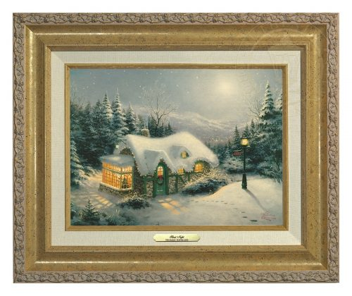 Silent Night - Canvas Classic (Gold Frame)
