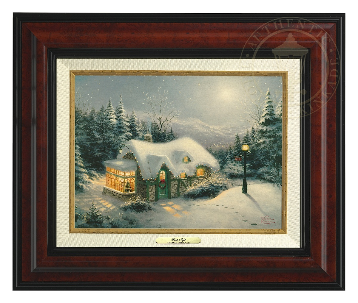 Silent Night - Canvas Classic (Burl Frame)