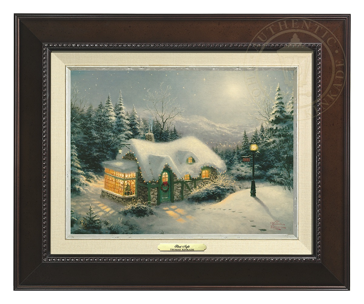 Silent Night - Canvas Classic (Espresso Frame)