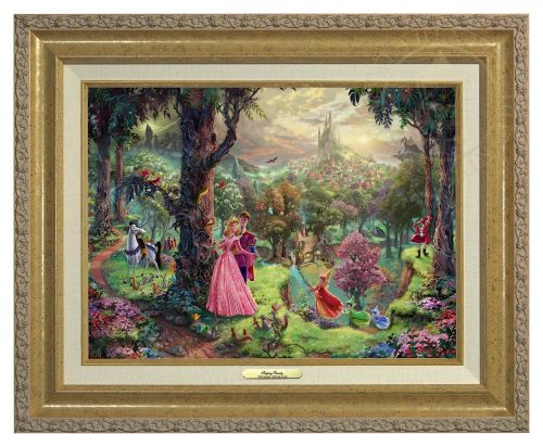 Sleeping Beauty - Canvas Classic (Gold Frame)