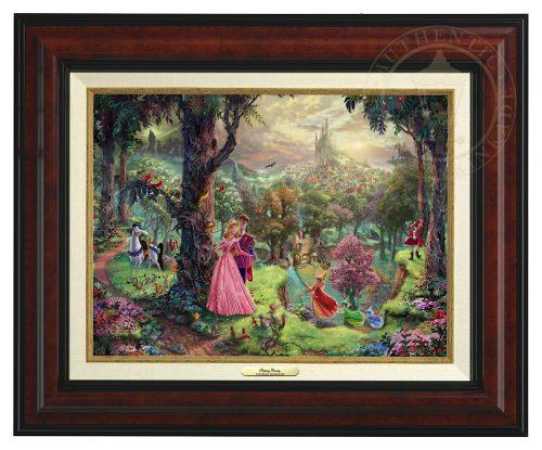 Sleeping Beauty - Canvas Classic (Burl Frame)