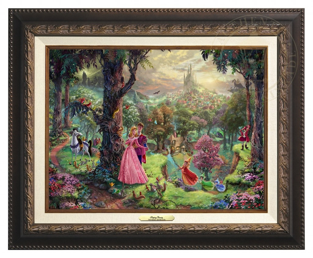 Sleeping Beauty - Canvas Classic (Aged Bronze Frame)