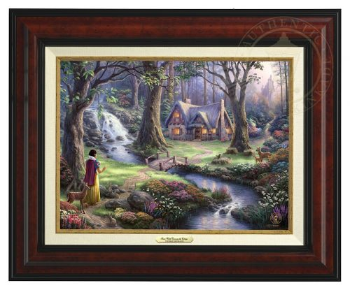 Snow White Discovers the Cottage - Canvas Classic (Burl Frame)