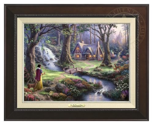 Snow White Discovers the Cottage - Canvas Classic (Espresso Frame)