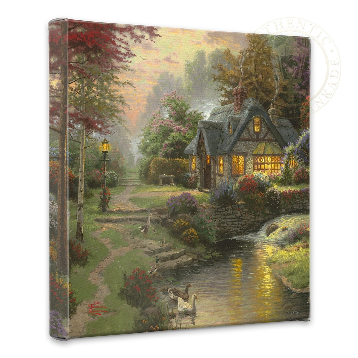 "Stillwater Cottage - 14"" x 14"" Gallery Wrapped Canvas"