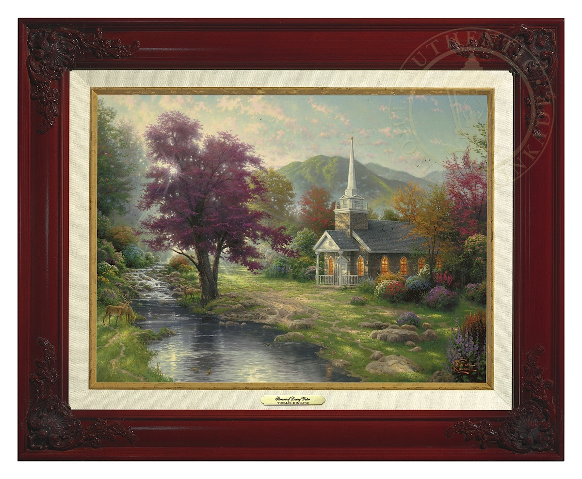 Streams of Living Water - Canvas Classic (Brandy Frame)