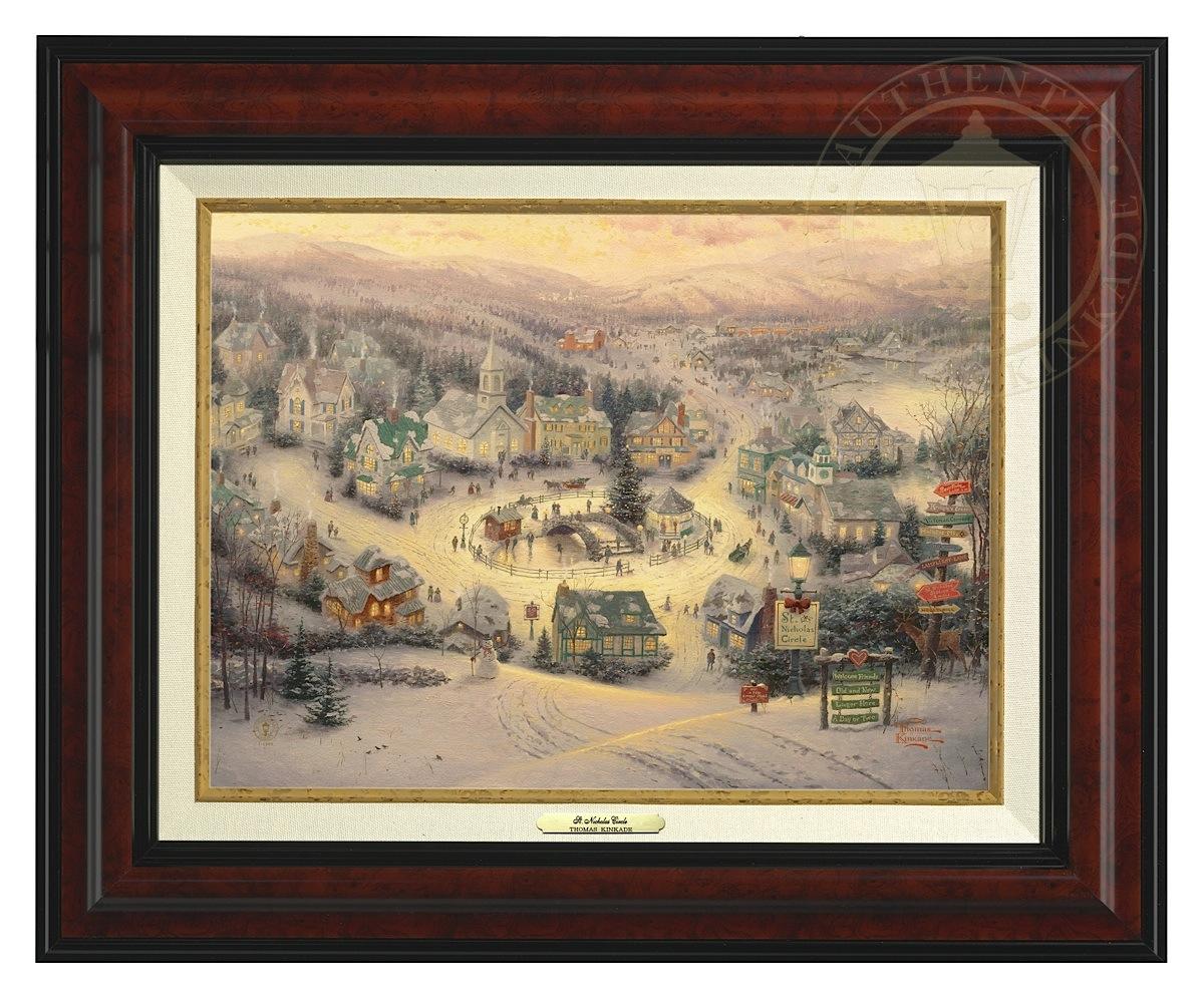 St. Nicholas Circle - Canvas Classic (Burl Frame)