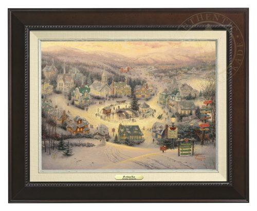 St. Nicholas Circle - Canvas Classic (Espresso Frame)