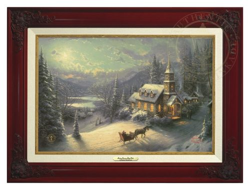 Sunday Evening Sleigh Ride - Canvas Classic (Brandy Frame)