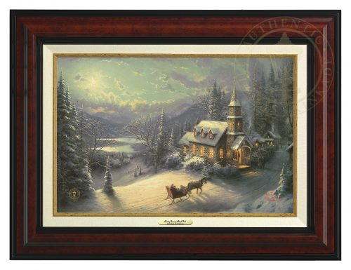 Sunday Evening Sleigh Ride - Canvas Classic (Burl Frame)