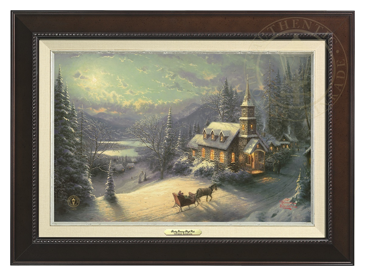 Sunday Evening Sleigh Ride - Canvas Classic (Espresso Frame)