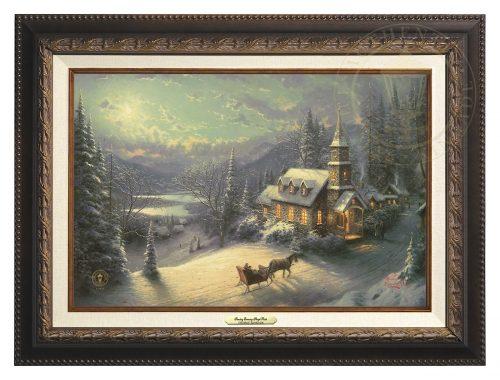Sunday Evening Sleigh Ride - Canvas Classic (Aged Bronze Frame)