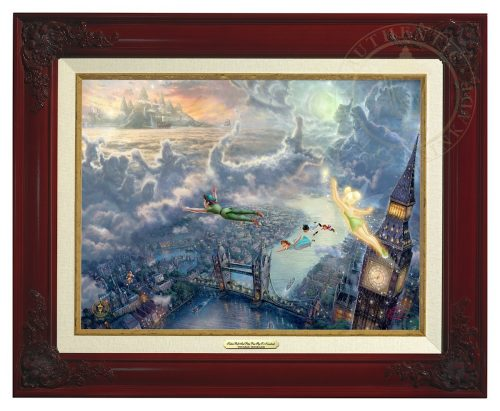 Tinker Bell and Peter Pan Fly to Neverland - Canvas Classic (Brandy Frame)