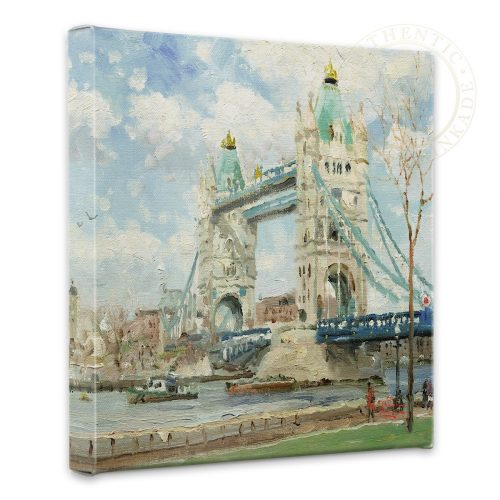 "Tower Bridge, London - 14"" x 14"" Gallery Wrapped Canvas"