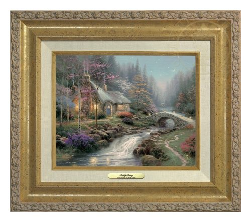 Twilight Cottage - Canvas Classic (Gold Frame)