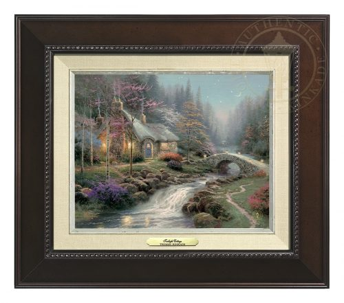 Twilight Cottage - Canvas Classic (Espresso Frame)