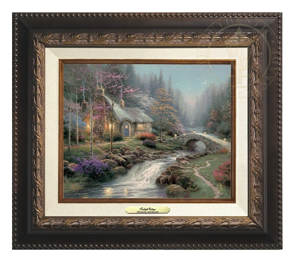 Twilight Cottage - Canvas Classic (Aged Bronze Frame)