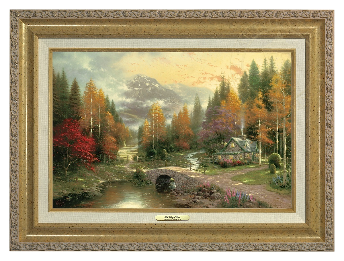 Valley of Peace, The - Canvas Classic (Gold Frame)